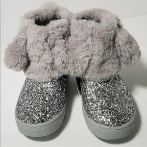 Cat & Jack Toddler Girls'  Bunny Boots Size 7 Gray